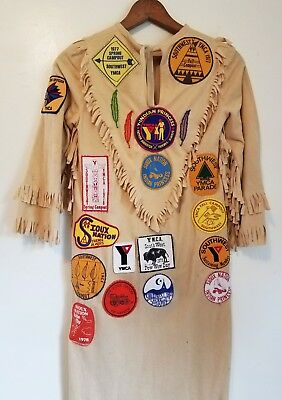 1970s Vintage Patches & Dress-Y-Indian Princess Father/ Daughter-YMCA Princesses