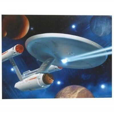 Star Trek Classic TV Enterprise 12 x 16 Lighted Stretched Canvas Wall Art NEW