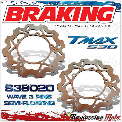 Braking S38020 Pair Discs Front Semi-Floating Yamaha T Max 530 Abs 2012