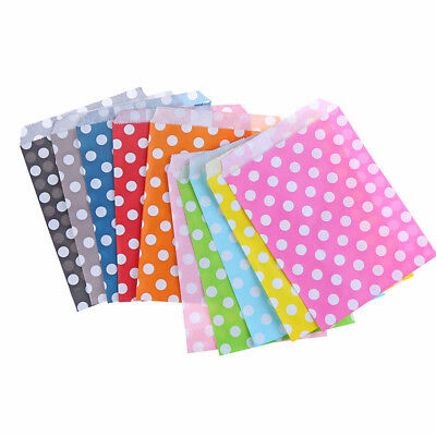 50X Paper Dot Candy Gift Bags Wedding Birthday Party Decor Random Color