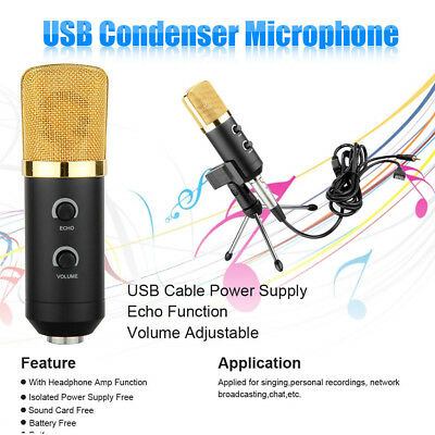 Pro Professional Condenser Vocal Recording Microphone BM-100FX with Mic Shock