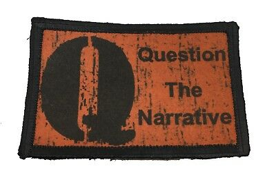 2x3 QAnon Question the Narrative Morale Patch Tactical Military Army Flag