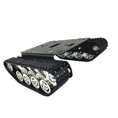 Smart Robot Tank Car Chassis Kit Engineering Plastic Track Crawler 33 Motor