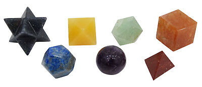 Harmonize 7 Pieces Geometry Sets Reiki Healing Crystal Spiritual Gift-CDR2143A