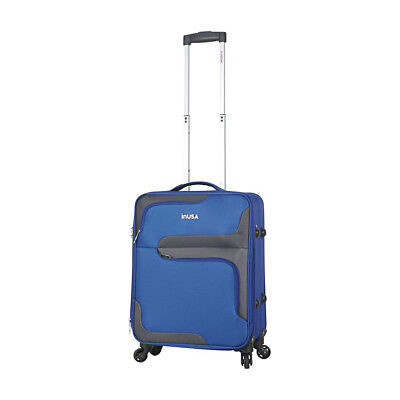 "inUSA Luggage 3D-City 20"" Lightweight Carry-On Spinner Softside Carry-On NEW"