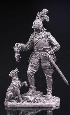 German trooper with a dog | TIN TOY SOLDIER | METAL MODEL, FIGURE | M-127