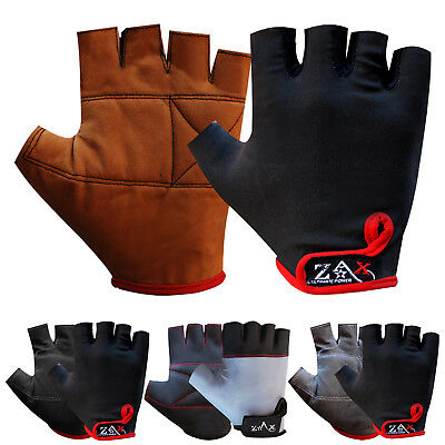 Amara Leather Weight Lifting Gloves Body Building Gym Fitness Gloves ADULTS