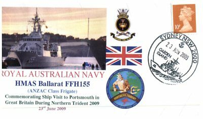 Navy covers - HMAS Ballarat Northern Trident 2009 (2 covers)