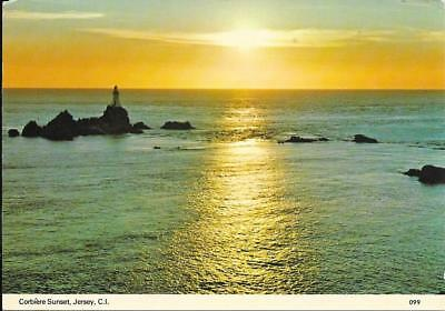 Corbiere Sunset,Jersey -- Posted Postcard