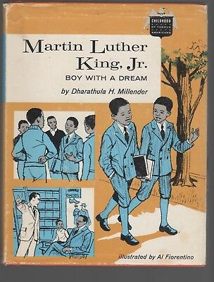 Martin Luther King Jr BOY WITH A DREAM Childhood of Famous Americans hcdj 1966