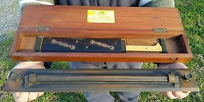 """Maritime Navy Ship Admiralty """"w.t.stanley"""" Rolling Ruler & Ebony Parallel Ruler"""
