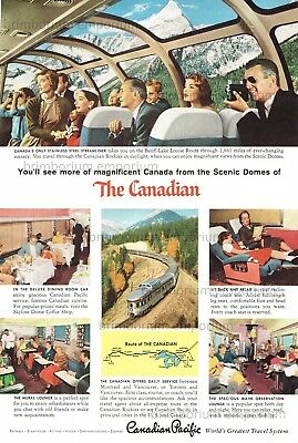 """""""The Canadian"""" CANADA'S ONLY STAINLESS STEEL STREAMLINER - Original Anzeige 1957"""