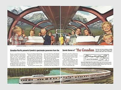 """""""The Canadian"""" - Train with High-up Scenic Domes - Original Anzeige von 1956"""