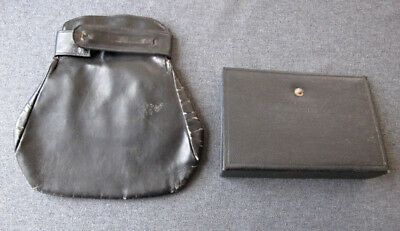 Antique art deco leather purse & letherette cover for inspiration and repurpose