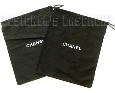 "Set of 2 CHANEL Dust Bags string tie 11.5 x 13.5"" for Shoes or Purse NEW Authent"