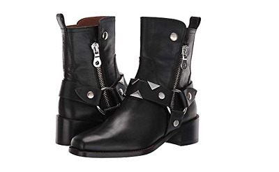 New in Box Frye Womens Addie Harness Mid Boots 76627 Black Leather MSRP    398 2ebb6debd