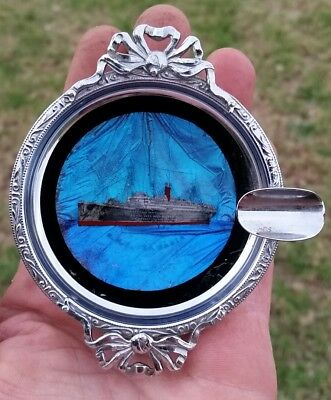 """1930 Butterfly Wing Ship Ashtray-S.s.ocean Liner""""rms Samaria"""" Wwii Troop Carrier"""