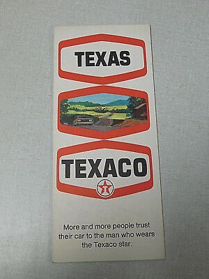 1969 Texaco oil company gas station map of Texas