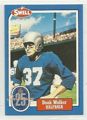 1988 Swell Hall of Fame Greats - #129 - Doak Walker - Detroit Lions