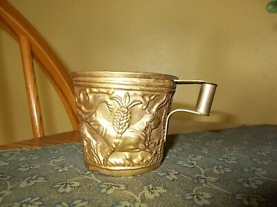 HTF Antique HANDMADE Greek VAPHIO Wild Bulls Cup Gold Gilt Mug Reproduction