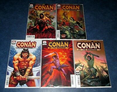 CONAN THE BARBARIAN #1 1:10 variant set (5) 1st print MARVEL JASON AARON 2019 NM