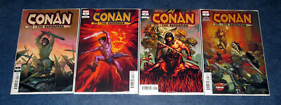 CONAN THE BARBARIAN 1 regular variant set (4) 1st print MARVEL  JASON AARON 2019