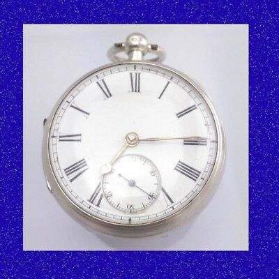 Stunning Silver William Boards of Hull Chain Fusee Key-Wind Pocket Watch 1883