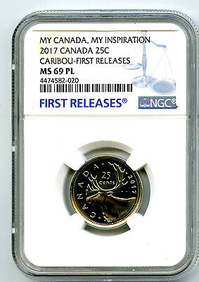 2017 Canada 25 Cent Quarter Ngc Ms69 Pl Caribou My Inspiration Fr Top Pop=4