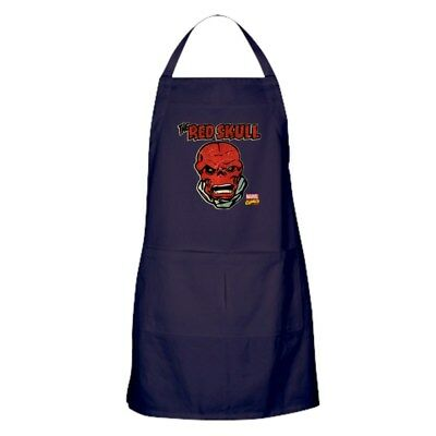 CafePress Marvel Comics Red Skull Retro Kitchen Apron (1397703279)