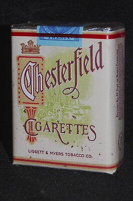VINTAGE CHESTERFIELD, LATE 1945 CIGARETTE PACK   wz-qm prop