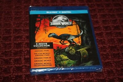 Jurassic World 5-Movie Collection (Blu-ray Disc) *Brand New Sealed*