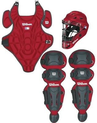 Wilson WTA368900 EZ Gear Youth Catchers Gear Box Set Red S/M Ages 5-7 New!