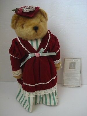 "Avon  ""Victorian Teddy"" Bear Doll Numbered Fine Collectible"