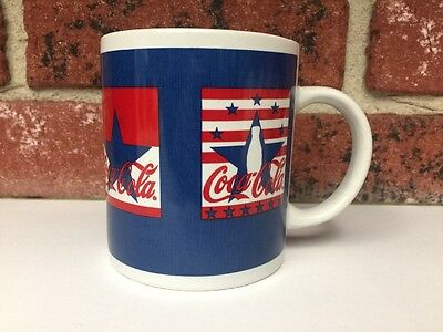 Coca-Cola Red White Blue Star Design Collectible Coffee Mug Gibson Brand Coke
