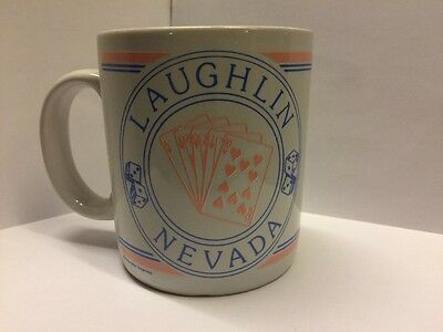 Laughlin Nevada Coffee Mug Dice Cards White Gift Cup Merchandise Express