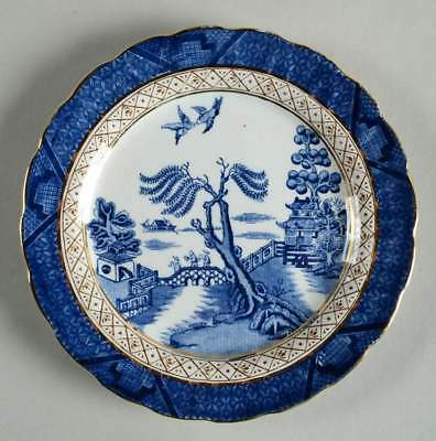 Booths REAL OLD WILLOW BLUE Bread & Butter Plate 9953784