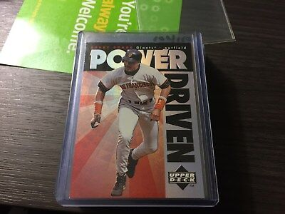 Barry Bonds 1996 Upper Deck Power Driven Insert #pd2 Giants!