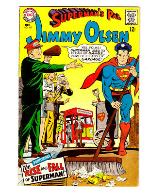 Superman's Pal JIMMY OLSEN #107 in FN/VF condition a 1967 DC Silver Age comic