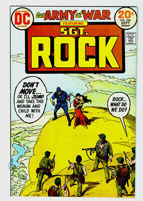 OUR ARMY AT WAR #260 in NM- a 1973 DC WAR comic SGT ROCK - JOE KUBERT cover