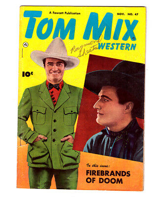 TOM MIX WESTERN #47 in FN condition 1951 Golden Age Fawcett western comic