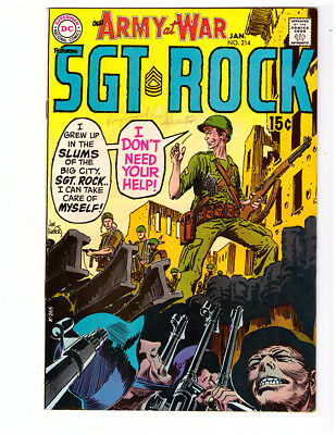 OUR ARMY AT WAR #214 in VF+ condition 1970 DC WAR comic w/ SGT ROCK