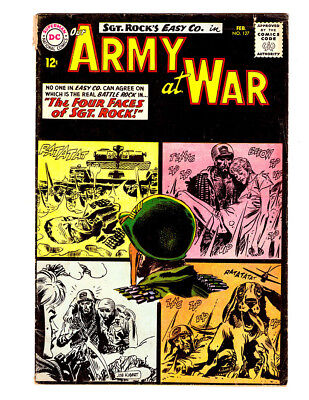 OUR ARMY AT WAR #127 in VG/FN grade 1963 DC WAR comic with SGT ROCK & Easy Co.
