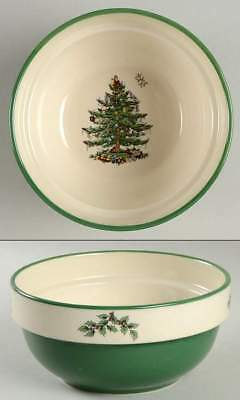 Spode CHRISTMAS TREE (GREEN TRIM) Stackable Soup Cereal Bowl 10999314