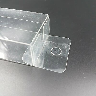 10 Gift Plastic Favor Box Hang Hole Top Wedding Clear PVC Display Boxes