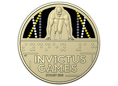 2018 Invictus Games - Sydney $1 Coloured Coin
