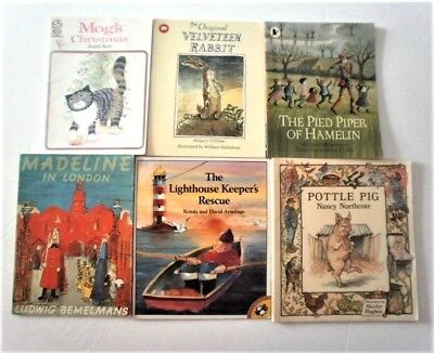 Early Readers 6 PB books Mog's Christmas Velveteen Rabbit Madeline   job lot