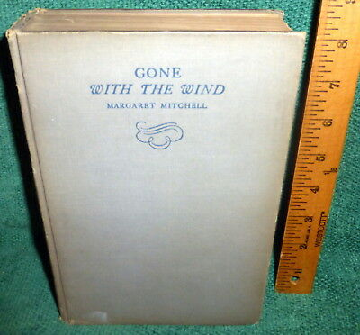 1936 1st ed BOOK- GONE WITH THE WIND by MARGARET MITCHELL - JULY 1936