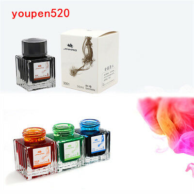 Jinhao 30ML various colors Glass bottled ink Refill cartridge fountain Pen New