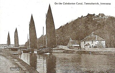 Sailing on The Caledonian Canal.Tomnahurich Inverness.See Scans