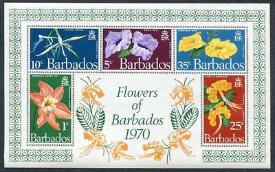 BARBADOS  352a  Beautiful  Mint  Never  Hinged  Sheet  FLOWERS  UPTOWN 35955